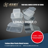PP two sublattice food container and lid mold